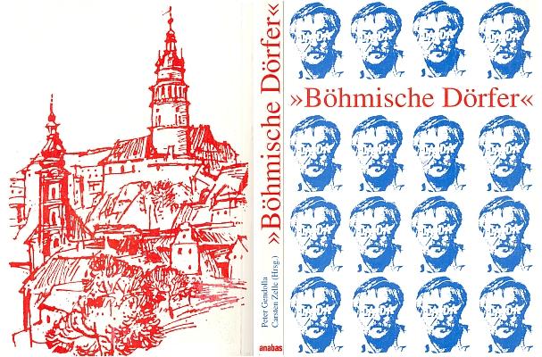 """Obálka (1995) knihy v Anabas-Verlag, Giessen s jeho """"dadaistickým"""" portrétem a použitím kresby Václava Boukala"""