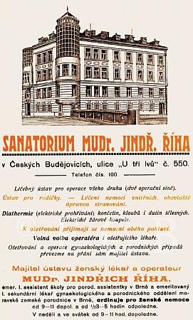Česká reklama jeho sanatoria...