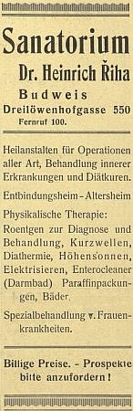 ... a reklama v českobudějovickém německém listu