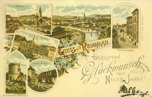 Opravdu jen pouhou náhodou je tato pohlednice, v Krumlově podaná 31. prosince 1898 a vrácená 1. ledna 1899 z Vídně odesilateli, označena příjmením Rilke?