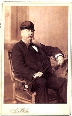Baron Mundy z rodiny Hardtmuthů, kterého Rilke v Budějovicích navštívil