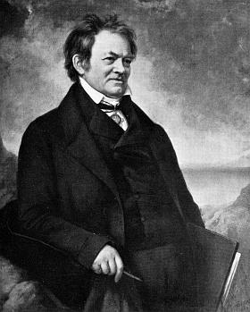 """Jeho podobizna (1844) z knihy """"Die großen Deutschen im Bilde"""" (1936)"""