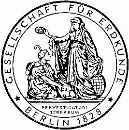 Emblém berlínské Zeměpisné společnosti, kterou spoluzaložil v roce 1828