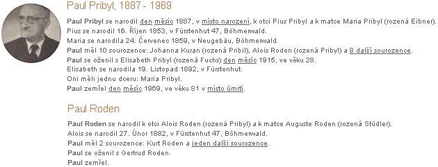 Trochu zmatený záznam na genealogickém webu o bratru otcově a o něm, jeho synovci