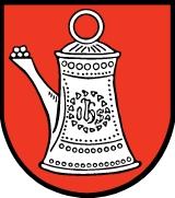 Znak města Bad Cannstadt, kde zemřel