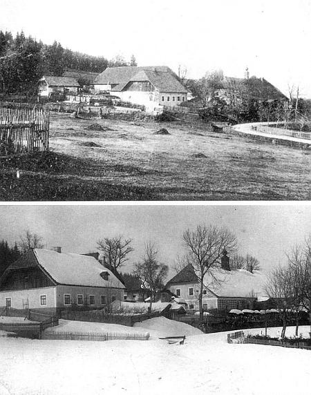 Tady se v Josefodole 15. prosince 1905 narodil Heinrichu a Mariettě Rodingerovým - dva snímky z poloviny dvacátých let dvacátého století a z roku 1931 zachycují dům čp. 2, panský dům a jejich okolí