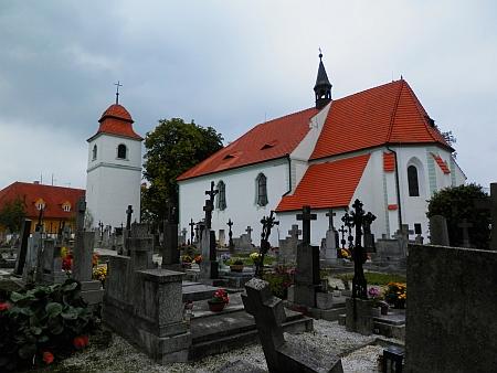 Kostel sv. Prokopa v Křtěnově, kde byl pokřtěn