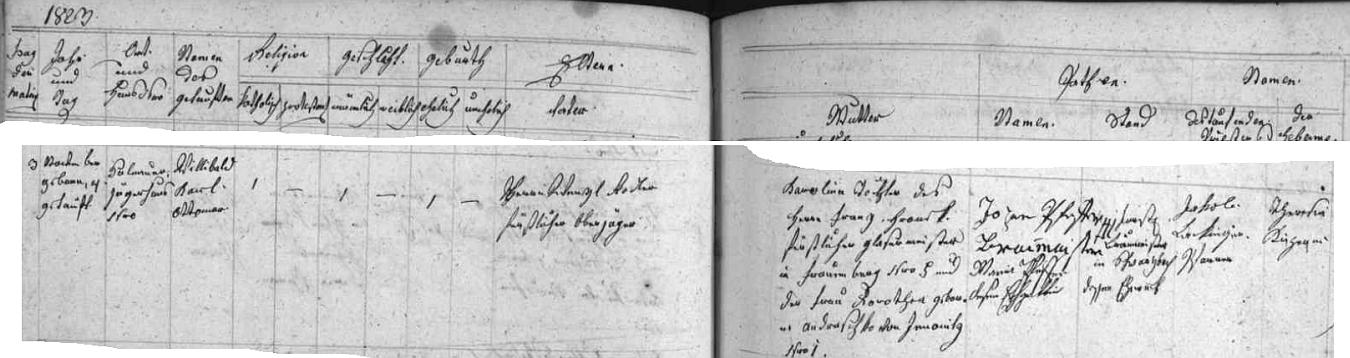 """Želnavská křestní matrika tu zaznamenává jeho narození 3. listopadu 1823 a křest farářem Jakobem Lackingerem vezdejším kostele sv. Jakuba Staršího den nato jménem Willibald Karl (Borromäus) Ottomar Rodler -  otec novorozencův Wenzel Rodler byl, jak víme z jiného pramene, synem Franze Rodlera a jeho ženy Josephy, """"geborene Kržižowitz"""", chlapcova matka Karolina byla rozená Hronková, její otec Franz Hronek byl sklenářským mistrem (Glasermeister) v Hluboké nad Vltavou (Frauenberg), matka Dorothea, roz.Andraschko, pocházela z Jinonic - svědkem při křtu byl sládek pivovaru ve Schwarzenbergu v bavorských Frankách se svou ženou"""