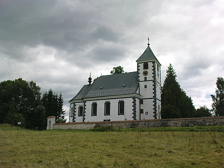 Želnavský kostel, kde byl pokřtěn