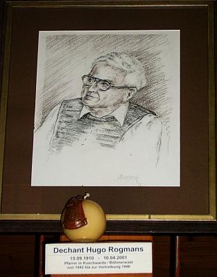 Jeho obraz v replice stožecké kaple ve Philippsreut