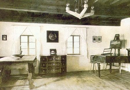 Interiér původní expozice z roku 1960