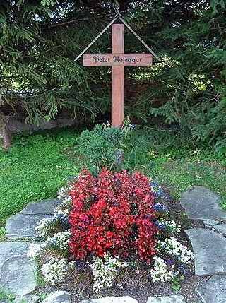 Jeho hrob v Krieglachu