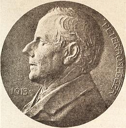 Medaile Ludwiga Hujera (1872-1968) kespisovatelovým sedmdesátinám
