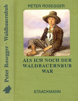 Na deskách jednoho z mnoha vydání jeho knihy vnakladatelství Staackmann je použit akvarel Aloise Schönna (1826-1897), zpodobující Roseggera v chlapeckém věku