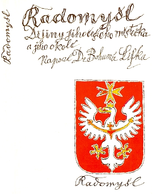 Obálka (1993) Karla Svolinského ke knize Dr. Bohumíra Lifky, obsahující i Janův životopis (knihu vydala obec Radomyšl)