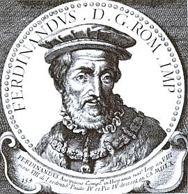 Český a uherský král (po abdikaci Karla V. i císař) Ferdinand I., jehož volbu českým králem po moháčské tragédii 29. srpna 1526 Jan s bratry podpořil