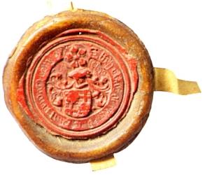 Jeho pečeť přivěšená na listině z dubna roku 1517
