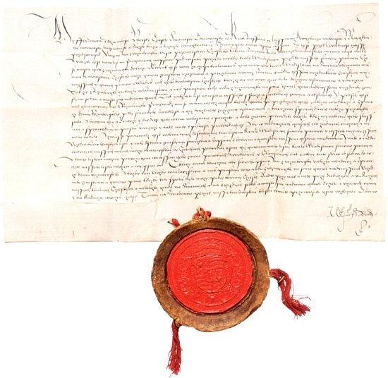 Listina ze 16. srpna 1529, kterou český král Ferdinand I. potvrzuje Janovi III. z Rožmberka, nejvyššímu převorovi johanitského řádu v Čechách a vladaři rožmberského domu, majestát krále Vladislava II. o výsadním postavení Rožmberků mezi nejvyššími zemskými úředníky