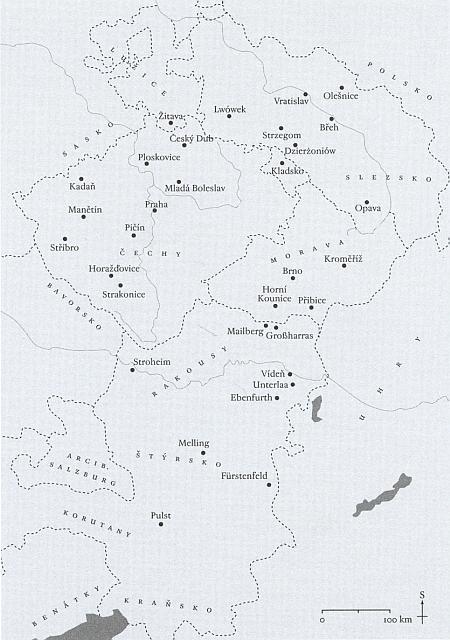 Nejvýznamnější johanitské komendy pod jurisdikcí Jana III. z Rožmberka