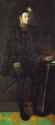 V jinošském věku na potrétu Mistra pánů z Rožmberka z doby kolem roku 1552
