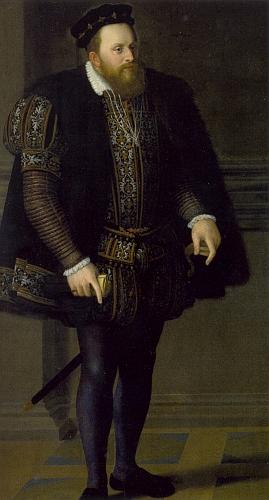 Na počátku politické kariéry na olejomalbě Jakoba Seiseneggera z roku 1560