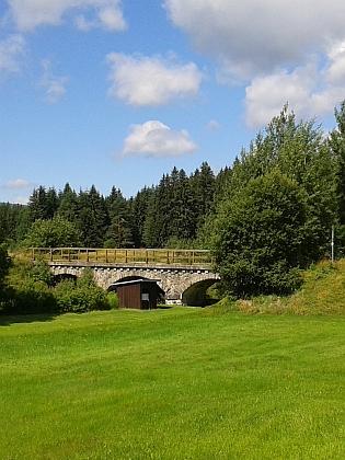 Železniční mosty na přerušené přeshraniční trati do Bavorska (Haidmühle a Nové Údolí)