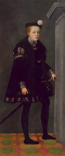 Jeho portrét v chlapeckém věku, pořízený někdy kolem roku 1552 středoevropským malířem zvaným Mistr pánů z Rožmberka