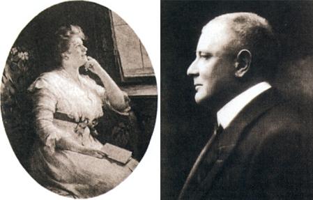 Jeho dcera Anna a její manžel Franz von Hardtmuth