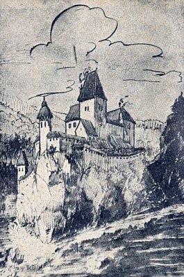 ... jeden z pokusů o rekonstruovanou vizi hradu...