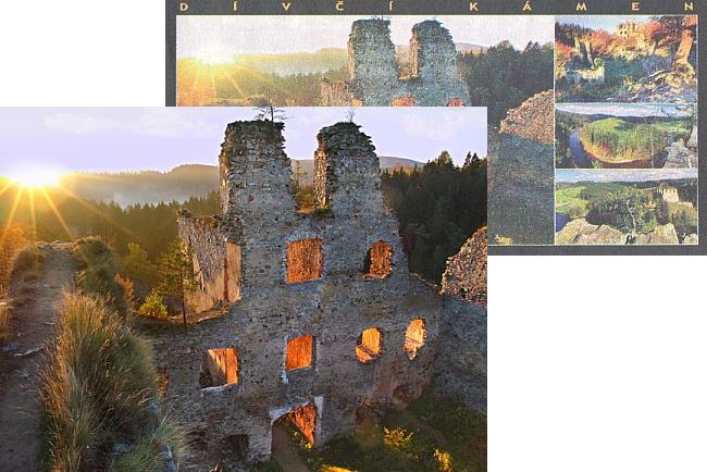 Vítězná Jihočeská pohlednice roku 2008 (foto Aleš Motejl) zachytila také hrad za rozbřesku