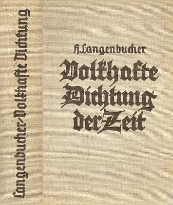 """Vazba (1940) třetího už vydání nacistického přehledu """"národovecké"""" dobové literatury, kde i on má své místo (Junker und Dünnhaup, Berlín)"""