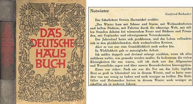 """Také v této nacistické """"domácí"""" čítance (1943, Zentralverlag der NSDAP) je ovšem zastoupen"""