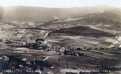Údolí Úhlavy a Zelená Lhota na dvou pohlednicích Josefa Seidela