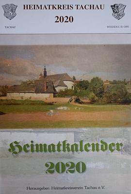 Reprodukce jeho obrazu františkánského kláštera v Tachově na obálce krajanského kalendáře