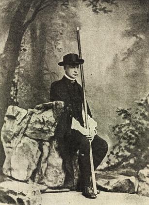 Kardinál Bedřich Schwarzenberg, autor podkladů pro Runkovo panorama, jako turista