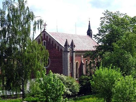 Kostel sv. Kateřiny v rodném městě Krásno, jehož záchrana se stala předmětem přeshraničního projektu