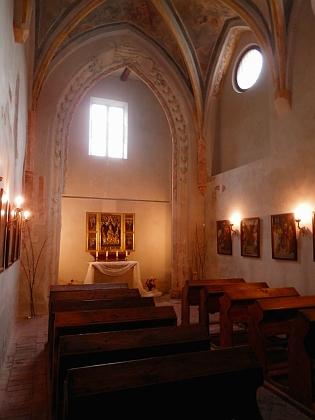 Kaple Andělů Strážných, nejstarší dochovaná stavba vklášteře (1370)