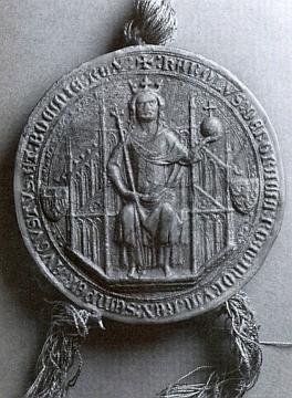 Pečeť Karla IV. na listině pro klášter Zlatá Koruna měla jistě dovozovat, jaké ochraně se kdysi těšil