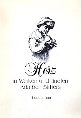 """Obálka jeho drobné práce (1997, Dietmar Nix Verlag) o """"srdci vdíle a vdopisech Adalberta Stiftera"""", která je věnována Johannu Lachingerovi"""