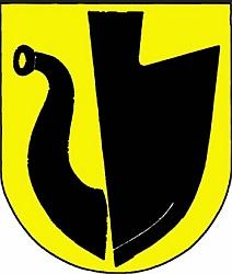 Znak jeho rodné obce Velké Hoštice na severomoravském Hlučínsku
