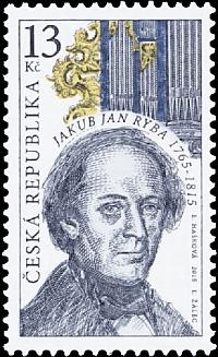 Česká poštovní známka z roku 2015 podle návrhu Evy Haškové