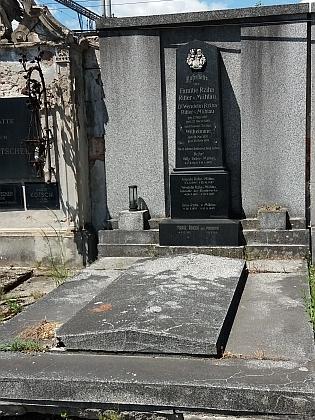 Jeho hrob u sv. Otýlie