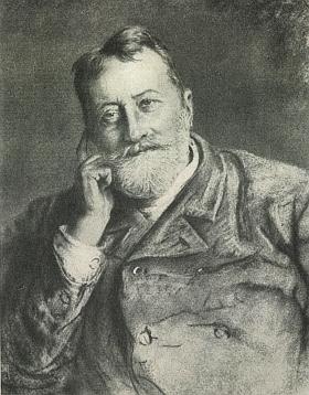 Autorem pastelu s jeho portrétem je Ludwig Michalek