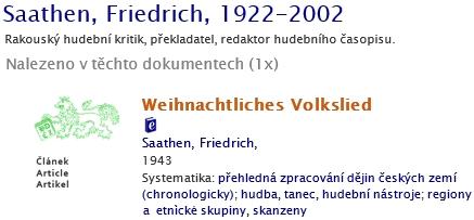 Jeho záznam v bibliografii dějin českých zemí, prezentované Historickým ústavem Akademie věd Českérepubliky