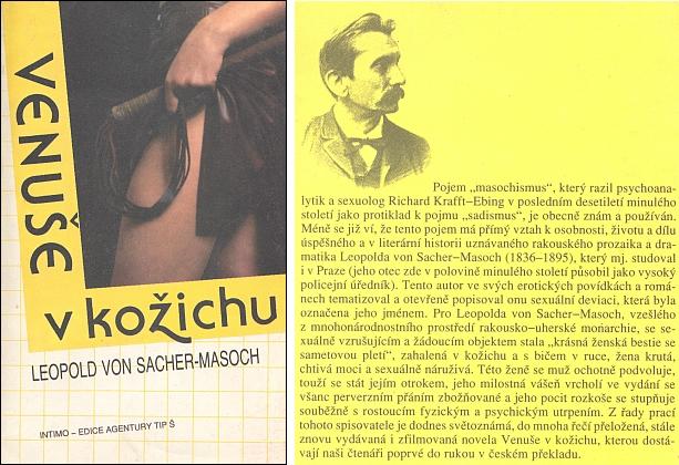 Obálka  prvního překladu (1991, vydala Agentura Tip Š v Praze) jeho nejslavnějšího díla do češtiny, který pořídila adoslov oautorovi napsala Gabriela Veselá