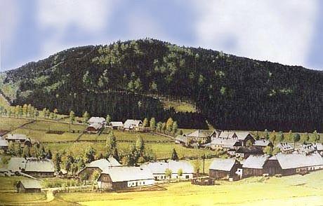 Borová Lada s horou zvanou Busker Berg, dnes Vyhlídka