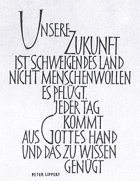 Citát z díla jezuity Petera Lipperta, který se stal mottem jeho knihy
