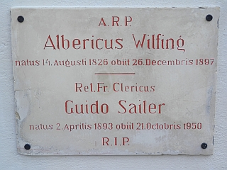 Hrob na hřbitově v Heiligenkreuz