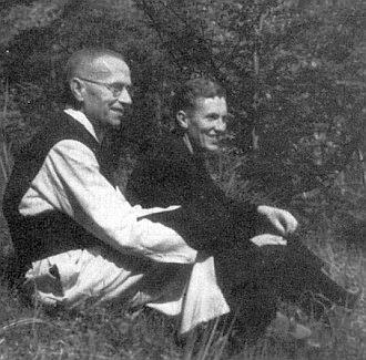 Se synem Fritzem v klášteře Rein v létě 1950 (viz i Herbert Sailer)