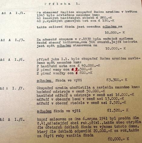... ve stejné době ovšem vznikl i tento dokument, zmiňující veřejné spálení českých knih z kaplické knihovny v roce 1939 (poválečný český zápis v kaplické kronice ale uvádí, že knihovna byla před obsazením pohraničí Němci z města odvezena a později nalezena ve skladu v Českých Budějovicích)
